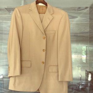John W. Nordstrom Tan 42R Italian Suit